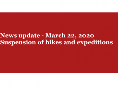 Suspension of scheduled hikes and expeditions